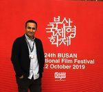 نوید محمودی در اکران فیلم «هفت و نیم» در بیست و چهارمین جشنواره فیلم بوسان