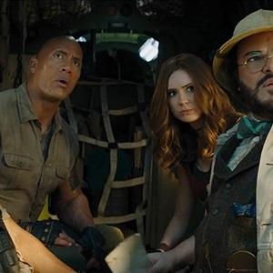 دواین جانسون، کوین هارت، جک بلک و کارن گیلان در فیلم سینمایی «جومانجی2: مرحله بعد» (Jumanji: The Next Level)