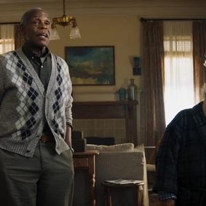 دنی دوویتو و دنی گلاور در فیلم سینمایی «جومانجی2: مرحله بعد» (Jumanji: The Next Level)