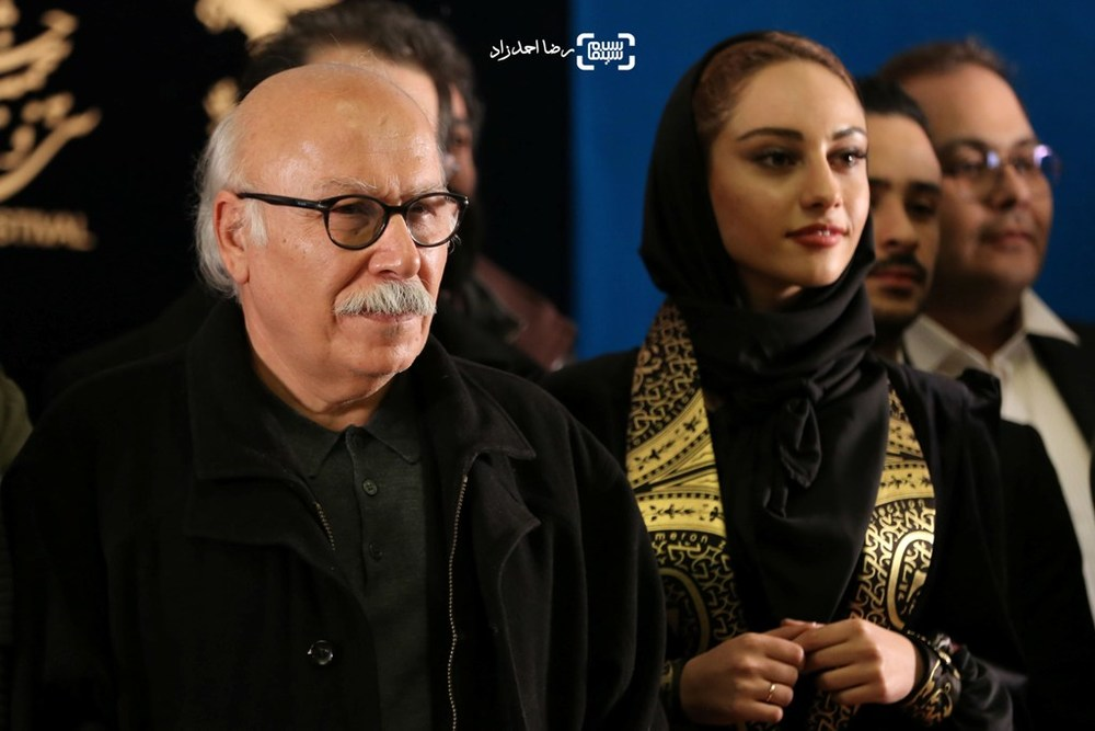 علیرضا داوودنژاد و ترلان پروانه در اکران فیلم «فراری» در سی و پنجمین جشنواره فیلم فجر