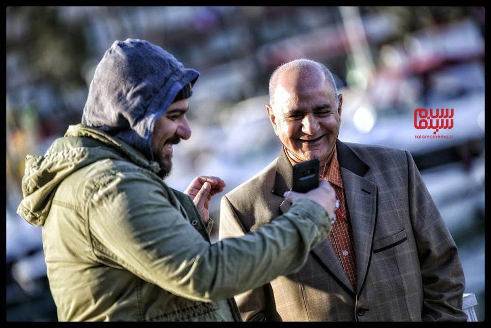 پرویز پرستویی و محسن کیایی در پشت صحنه فیلم «مطرب»