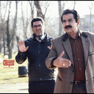 پرویز پرستویی و مصطفی کیایی در پشت صحنه فیلم «مطرب»