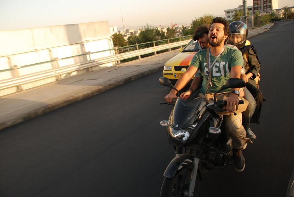 حامد بهداد، نگار شقاقی و اشکان کوشانژاد در فیلم «کسی از گربه های ایرانی خبر نداره»