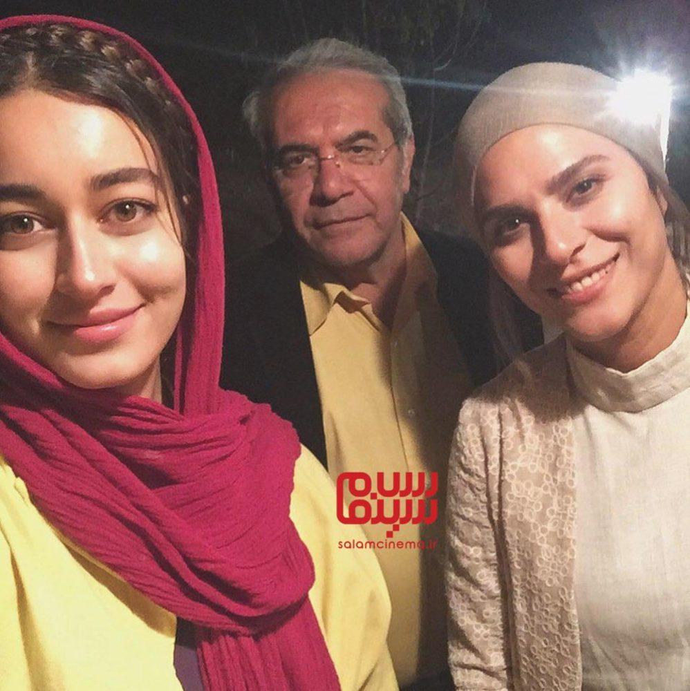 سحر دولتشاهی، مه لقا مینوش زاد و امیر سمواتی در پشت صحنه فیلم «آتابای»