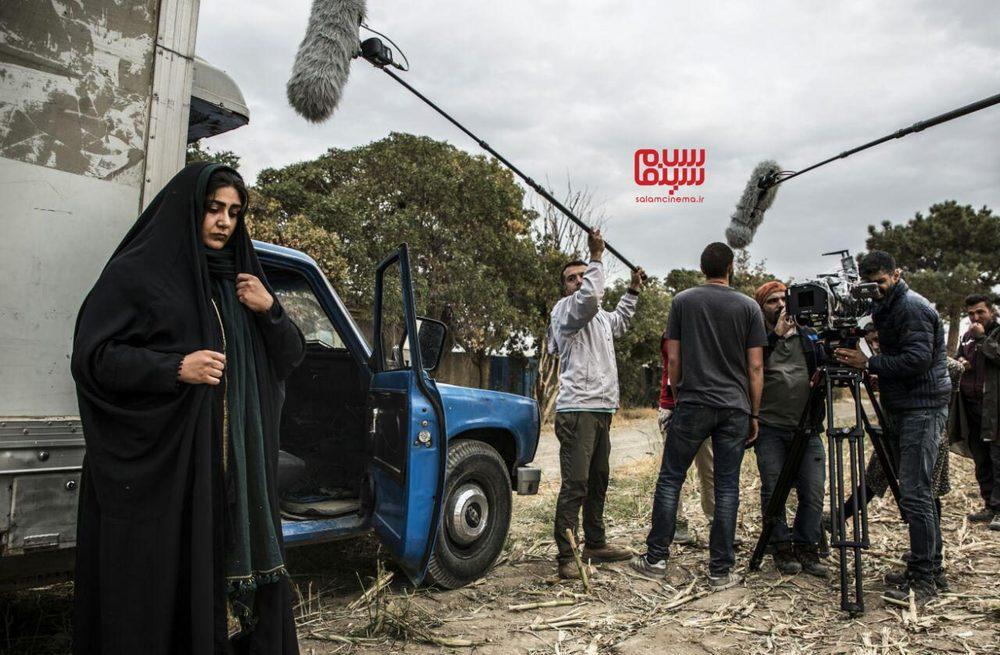 باران کوثری در پشت صحنه فیلم «کشتارگاه»