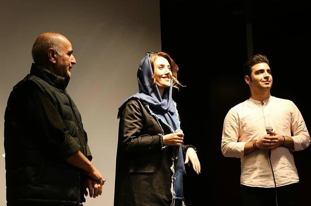 عایشه گل جوشکن و پرویز پرستویی در اکران مردمی فیلم «مطرب» در تبریز