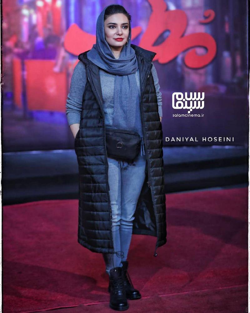 لیندا کیانی در اکران خصوصی فیلم «مطرب» در سینما چارسو