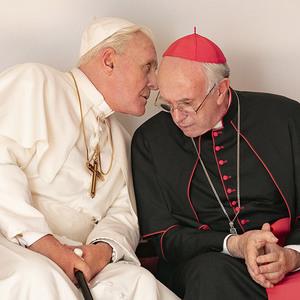 آنتونی هاپکینز و جاناتان پرایس در فیلم «دو پاپ»(The Two Popes)