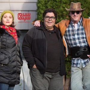 شبنم مقدمی، فرهاد اصلانی و مایکل مدسن در فیلم «ستاره بازی»