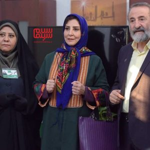 مرجانه گلچین، مهران رجبی و رابعه اسکویی در سریال «موچین»