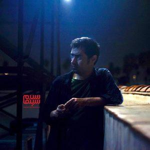 شهاب حسینی در پشت صحنه فیلم سینمایی «آن شب»