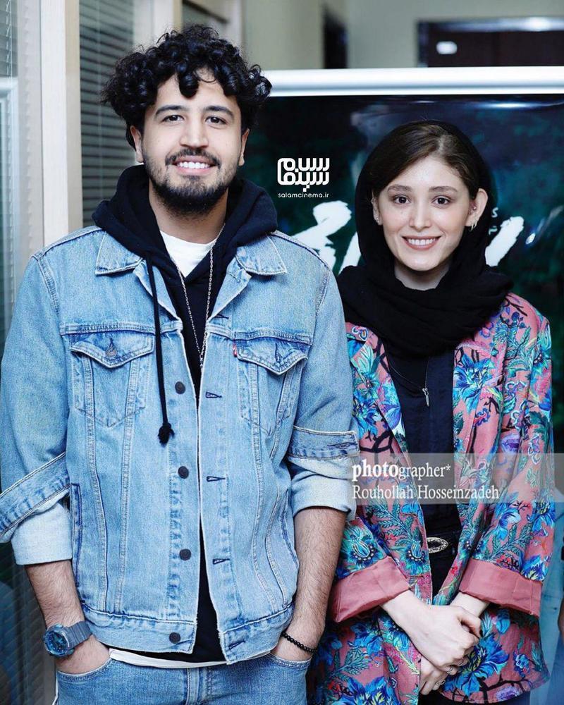 مهرداد صدیقیان و فرشته حسینی در اولین اکران مردمی فیلم «سونامی» در سینما کوروش