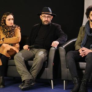 مهشید ناصری، هدایت هاشمی و شهرام مسلخی در برنامه معرفی فیلم «پدران» در «تا جشنواره ۳۸»