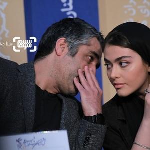 ریحانه پارسا و پژمان جمشیدی در نشست خبری فیلم «خوب بد جلف 2: ارتش سری» در جشنواره فیلم فجر 38