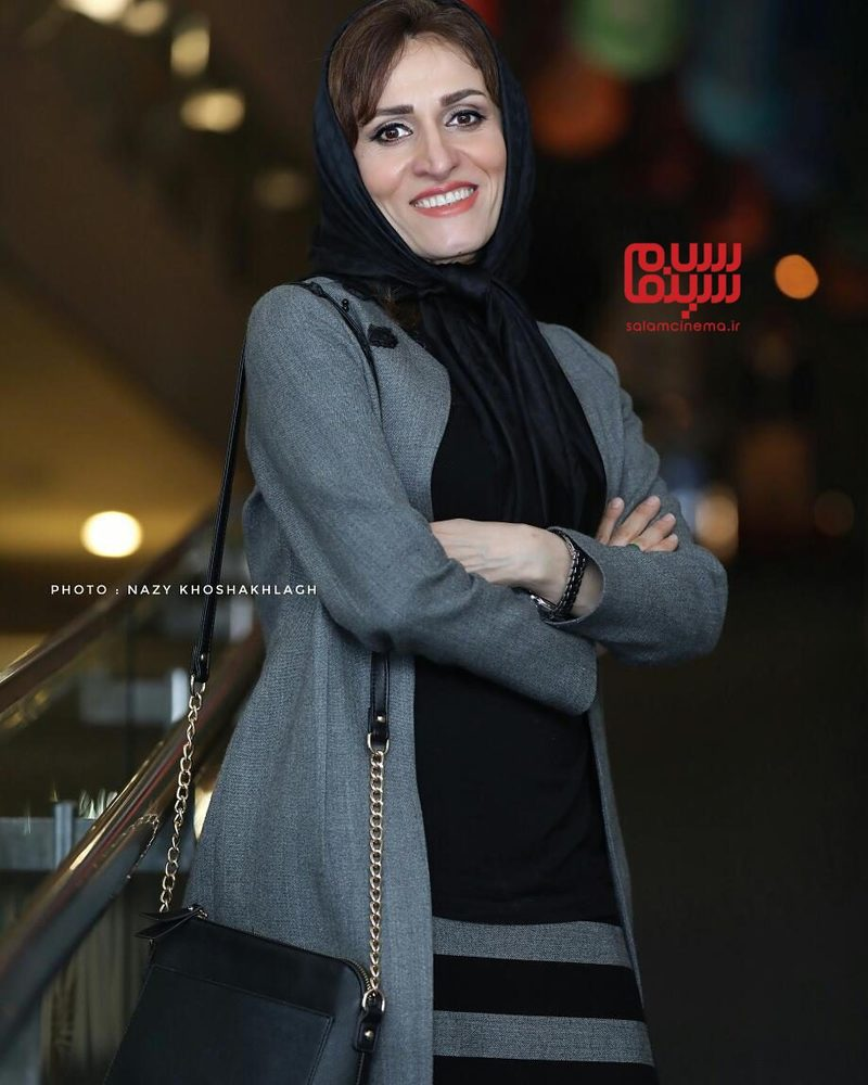 آتیه جاوید در اکران فیلم «دارکوب» در سی و ششمین جشنواره فیلم فجر