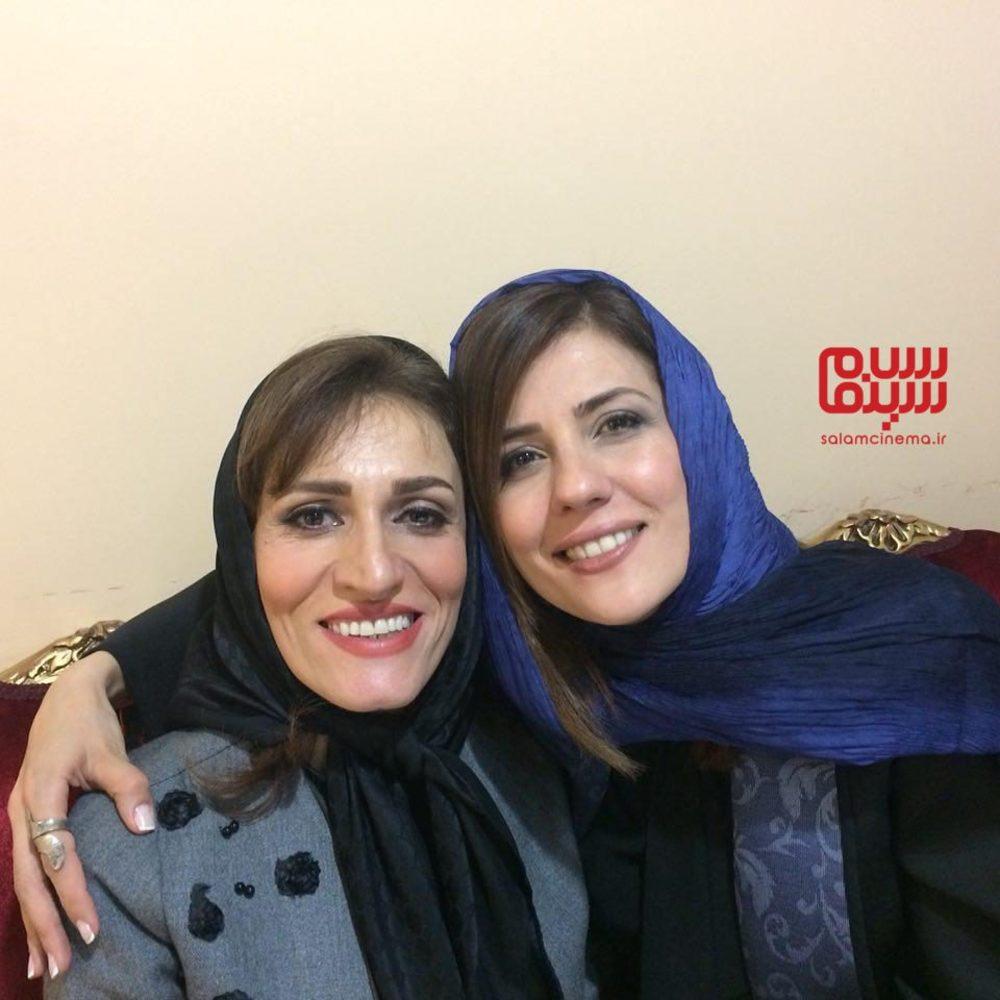 سارا بهرامی و آتیه جاوید در اکران فیلم «دارکوب» در جشنواره فیلم فجر 36