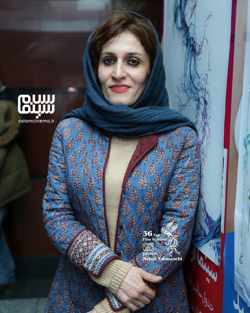 آتیه جاوید در اکران فیلم «دارکوب» در سی و ششمین جشنواره فیلم فجر در سینما آزادی