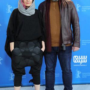 شقایق شوریان و احسان میرحسینی در فتوکال فیلم «شیطان وجود ندارد» در جشنواره برلین 2020