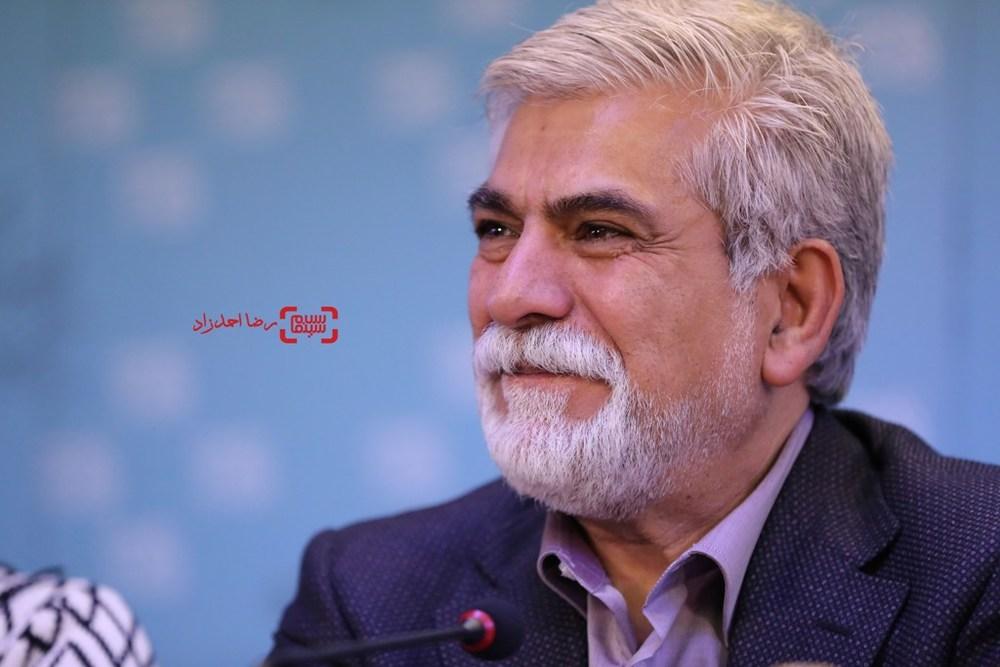 حسین پاکدل در نشست خبری فیلم «پشت دیوار سکوت» در جشنواره فیلم فجر35