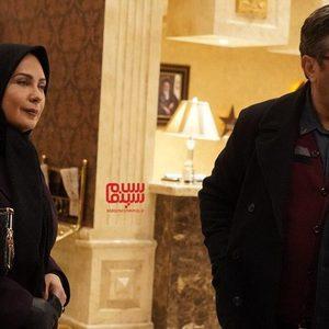 لعیا زنگنه و شهاب عباسی در سریال «کامیون»