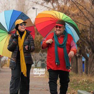 محمدرضا شریفی نیا و نیوشا ضیغمی در فیلم «زن ها فرشته اند 2»