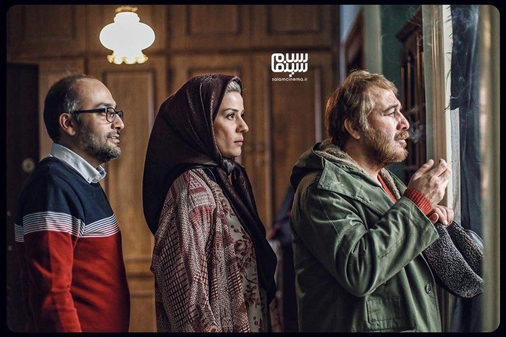رضا عطاران، سارا بهرامی و روح الله حجازی در پشت صحنه فیلم «روشن»