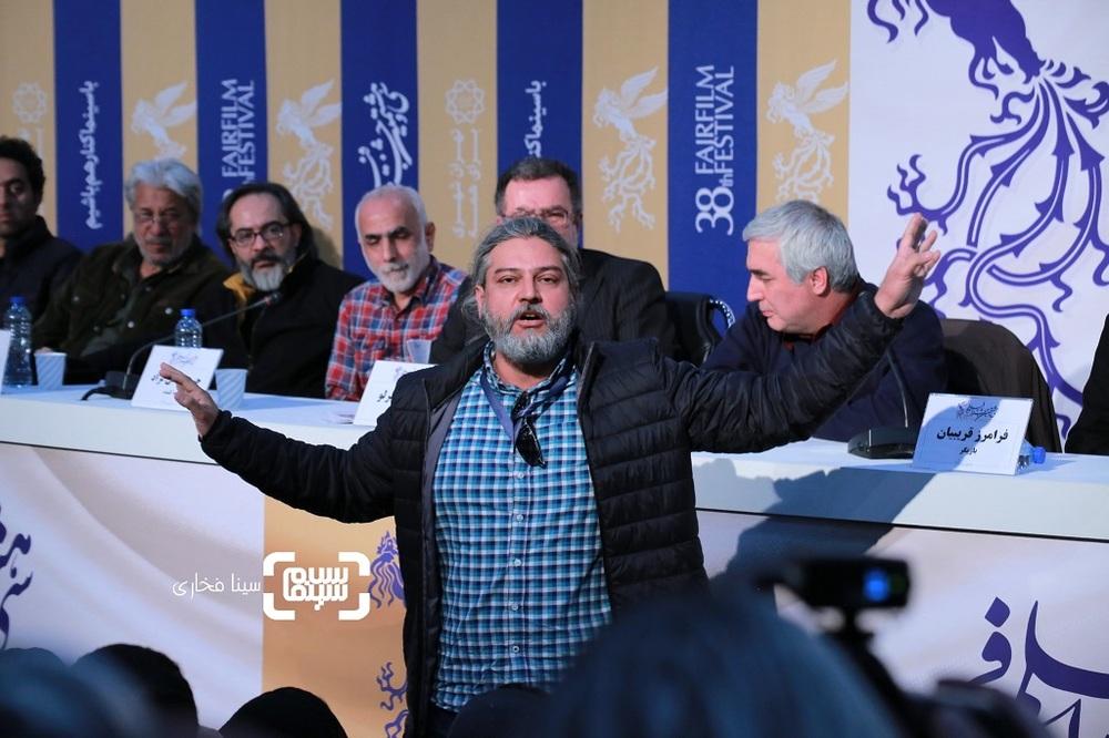 نشست خبری فیلم «خروج» در سی و هشتمین جشنواره فیلم فجر