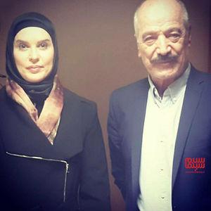 سعید راد و مونیا جمالپور در پشت صحنه فیلم «ترور خاموش»