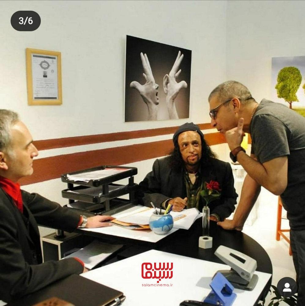 داود محمدآبادی در پشت صحنه فیلم «دست نزن جیزه»