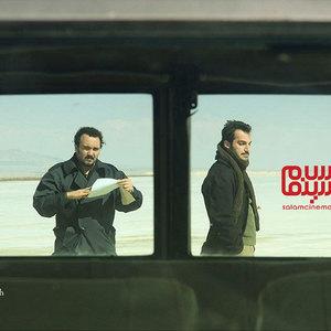 کامبیز دیرباز و کوروش سلیمانی در فیلم «یک گزارش واقعی»