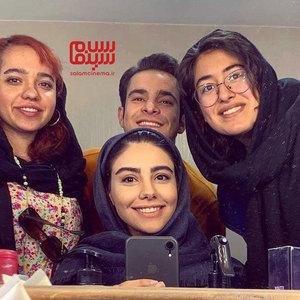 محمدجواد جعفرپور، مهدیس توکلی و مهسا غفوری در پشت صحنه سریال «پدر پسری»