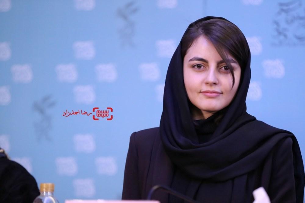 افسانه کمالی در نشست خبری «یک روز بخصوص» در سی و پنجمین جشنواره فیلم فجر
