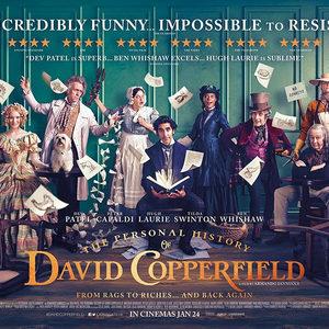 دو پتل، تیلدا سوئینتن و هیو لوری در پوستر فیلم «تاریخچه شخصی دیوید کاپرفیلد» (The Personal History of David Copperfield)