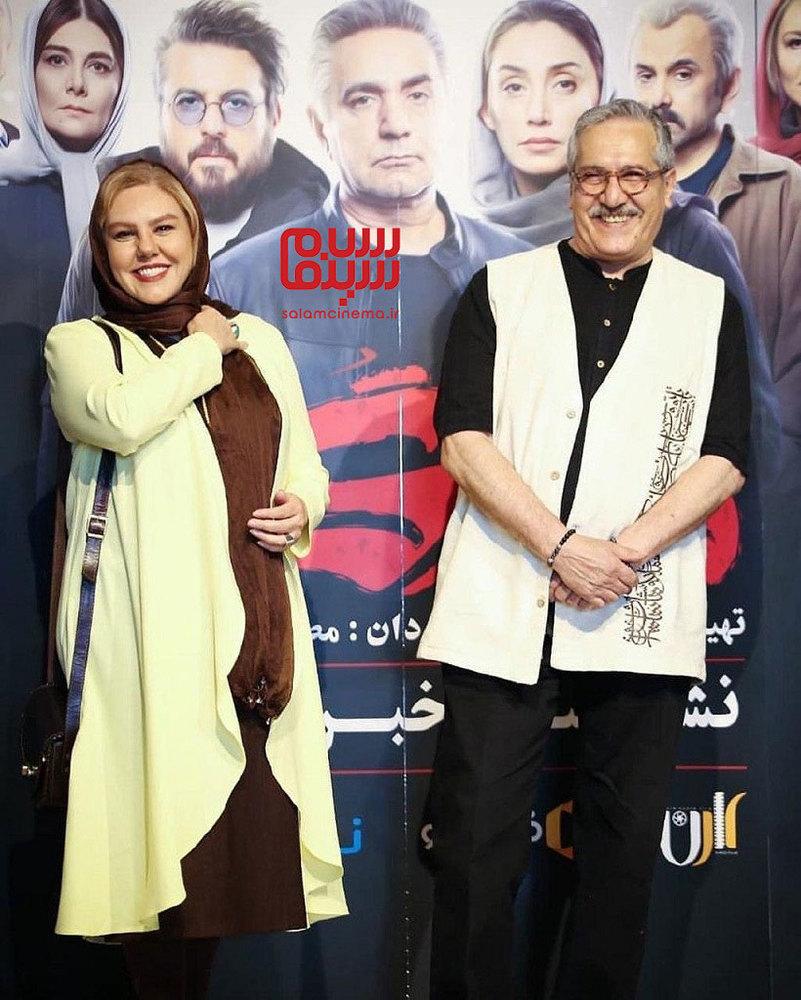 شاهرخ فروتنیان و افسانه چهره آزاد در نشست خبری سریال «هم گناه»