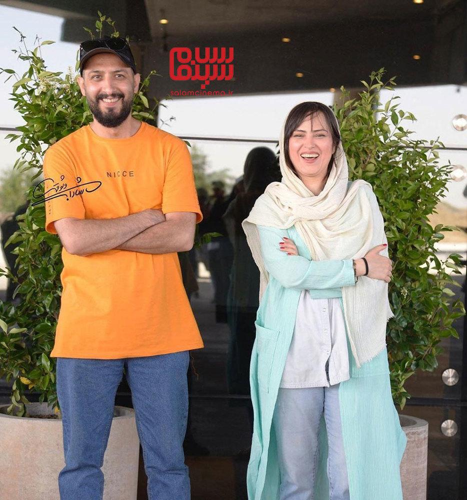 شیرین اسماعیلی و حسین امیدی در نشست خبری سریال نمایش خانگی «هم گناه»