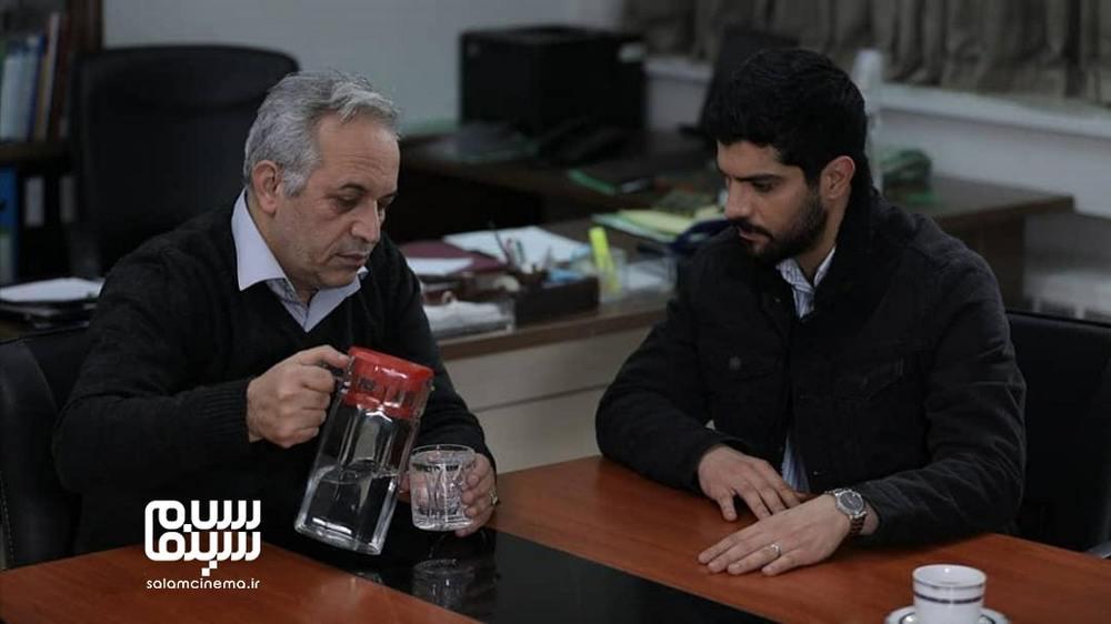 محمدحسین لطیفی و سینا مهراد در سریال «آقازاده»