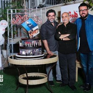 پرویز پرستویی، محسن کیایی و مصطفی کیایی در مراسم تولد پرویز پرستویی