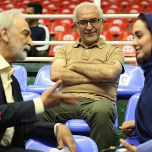 باقر پیران، محمود پاک نیت و مریم خدارحمی در پشت صحنه سریال «دخترم نرگس»
