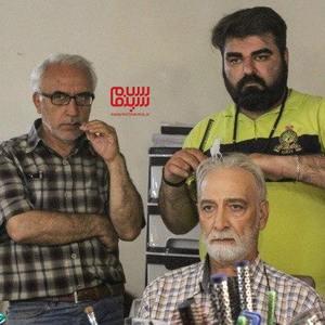 باقر پیران، محمود پاک نیت و مسعود رئیس الساداتی اسکویی در پشت صحنه سریال «دخترم نرگس»