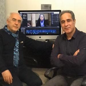 باقر پیران و سروش مرشدیان در پشت صحنه سریال تلویزیونی «دخترم نرگس»