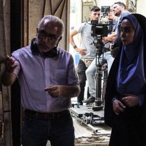 باقر پیران و مریم خدارحمی در پشت صحنه سریال «دخترم نرگس»