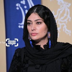 سودابه بیضایی در نشست خبری فیلم «تعارض» در سی و هشتمین جشنواره فیلم فجر