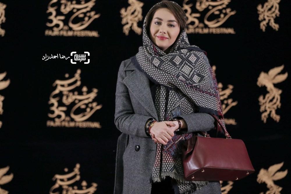 هانیه توسلی در اکران فیلم «بن بست وثوق» در سی و پنجمین جشنواره فیلم فجر