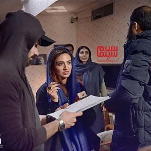 گلاره عباسی در پشت صحنه فیلم «شاهین»