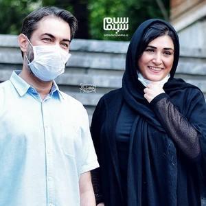 باران کوثری و پارسا پیروزفر در نشست خبری فیلم «بی حسی موضعی» در موزه سینمای ایران