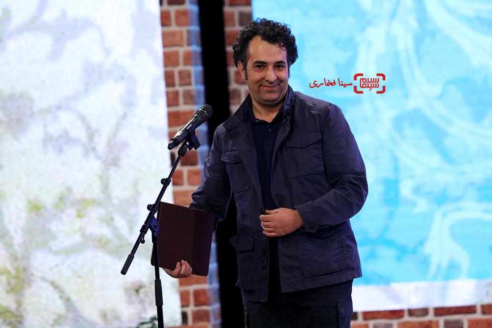 هاتف علیمردانی در اختتامیه سی و پنجمین جشنواره فیلم فجر