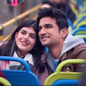 سوشانت سینگ راجپوت و سنجانا سنگی در فیلم سینمایی «دل بیچاره» (Dil Bechara)