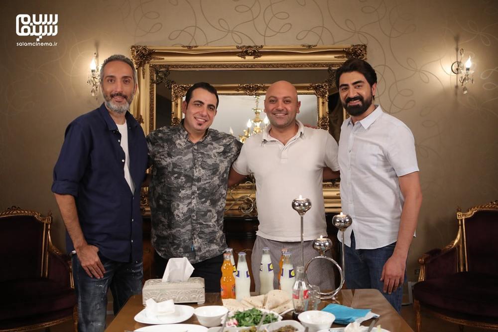 مهدی کوشکی، محمدرضا علیمردانی، محمد لقمانیان و امیرمهدی ژوله در شب اول «شام ایرانی»