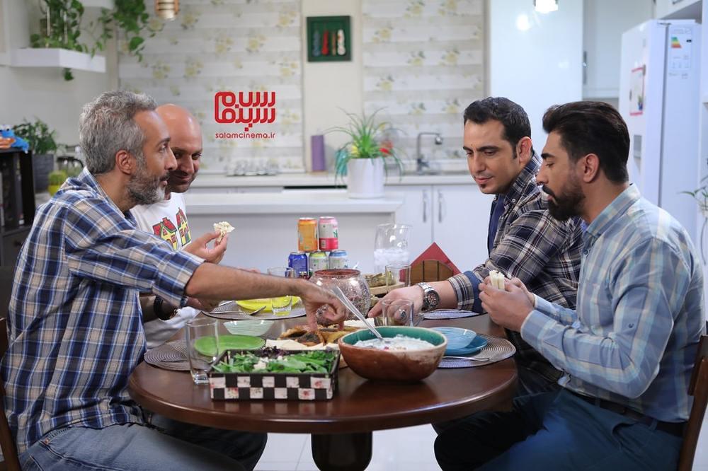 مهدی کوشکی، محمدرضا علیمردانی، محمد لقمانیان و امیرمهدی ژوله در شب دوم رئالیتی شوی «شام ایرانی»