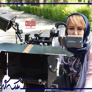 پانته آ بهرام در پشت صحنه سریال «ملکه گدایان»
